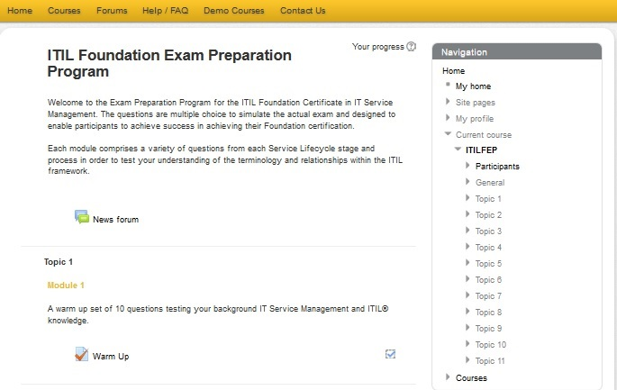 ITIL® Foundation - eLearning Plus exam Prep